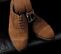 The Westminster in Tobacco Suede, in E width