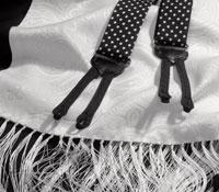 White Paisley Silk Scarf
