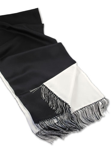 Black and Cream Scarf - A stunning black scarf with floral design pattern in cream and tan. This scarf is a perfect accessory for the fashion conscious man. If you are looking.