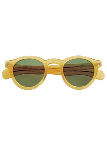 Bold Round Sunglasses in Translucent Yellow