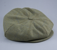 Halifax Wool Cap in Green and Blue