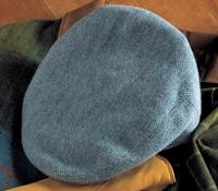 Wool Garforth Cap in Green Herringbone