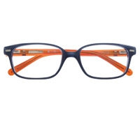 Slim Rectangular Children's Frame in Blue and Orange