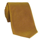 Silk Basketweave Tie in Saffron and Magenta