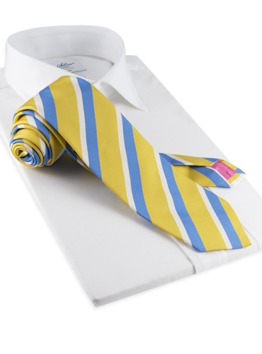 Mogador Woven Multi Stripe Tie in Lemon