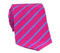 Mogador Bar Stripe Tie in Fuchsia