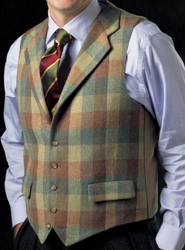 Lambswool & Cashmere Blanket Weave Waistcoat