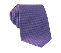 Silk Basketweave Tie in Violet