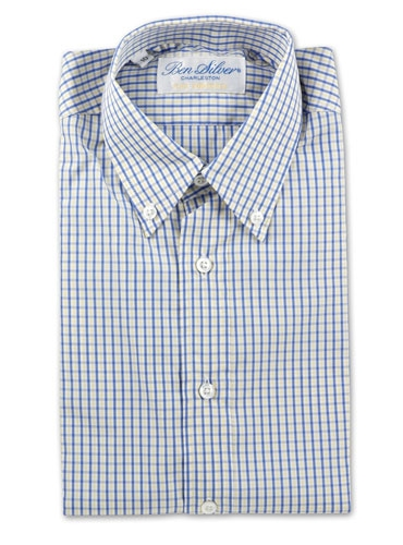 Boys Blue and Yellow Check Shirt