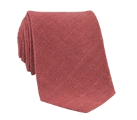 Shantung Silk Solid Tie in Salmon