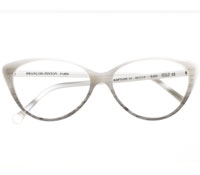 Bold Cat-eye Frame in White and Grey