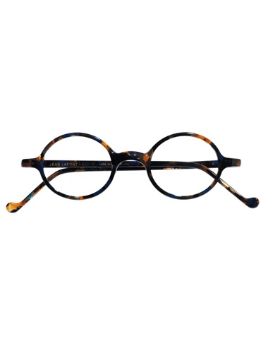 Lafont Small Round Frame in Blue Tortoise