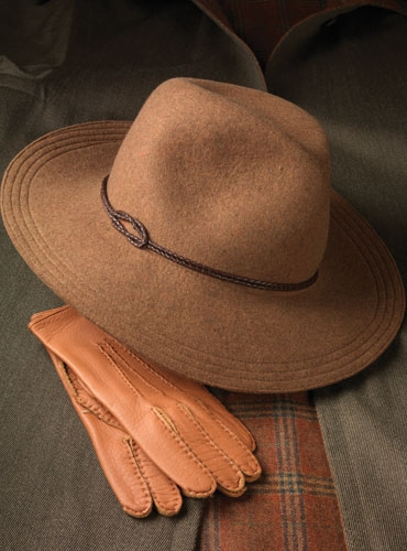 Ladies Fur Felt Fedora in Hazel