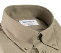 Thin Wale Corduroy Button Down in Sand, Size Medium
