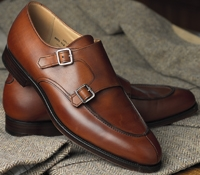 The Arlington Double Monk Strap in Chestnut
