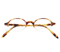 Semi-rimless Oval Frame in Paris Tortoise