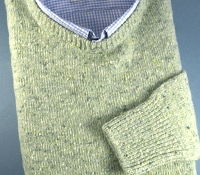 Donegal Sweater in Green Mist