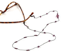 Purple Crystal Eyewear Chain