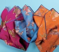 Cotton and Cashmere Jockey Motif Pocket Squares