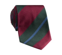 Silk Multi-Stripe Tie in Berry