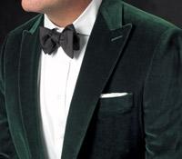 Tartan Green Peak Lapel Velvet Jacket