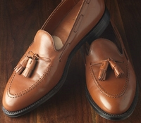 The Alden Tassel Moccasin in Burnished Tan