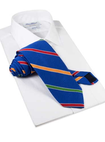 Silk Multi-Stripe Tie in Royal