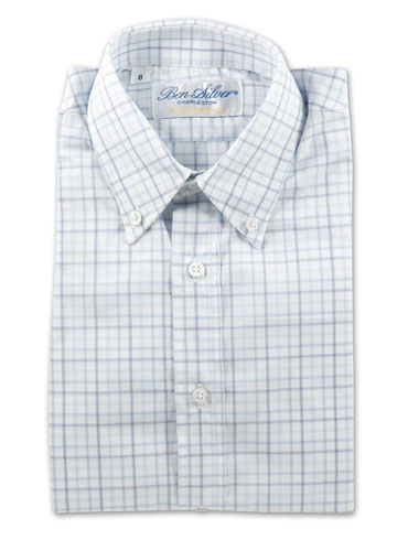 Boys Blue Tone Grid Shirt