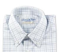 Boys Blue Tone Grid Shirt