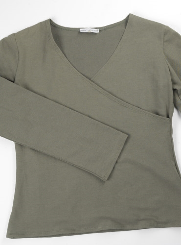 Marie Meunier Long Sleeve Shirt in Khaki