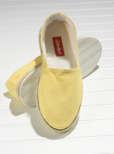 Yellow Canvas Espadrilles with Rubber Soles