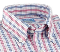 Pink, Blue, and White Check Shirt