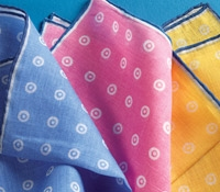 Cotton and Linen Pocket Square with Dots