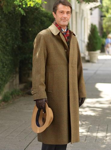 Olive Amp Brown Herringbone Tweed Topcoat