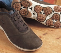 The Geox Performance Sneaker in Coffee