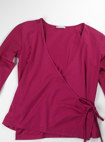 Marie Meunier Edwina Cotton Shirt in Fuchsia