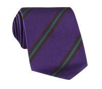 Silk Multi-Stripe Tie in Plum