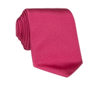 Silk Solid Signature Tie in Fuchsia