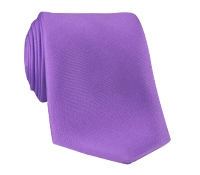 Silk Solid Tie in Petunia