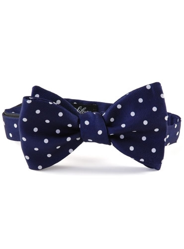 Churchill Dot Bow in Navy