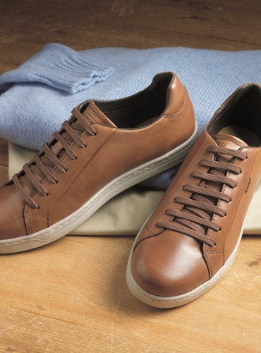 Geox Leather Sneakers in Cognac