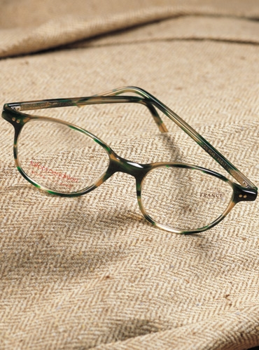 Semi-Square Frame in Tortoise with Green