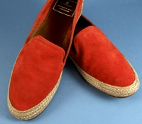 Ladies' Suede Espadrilles in Carrot