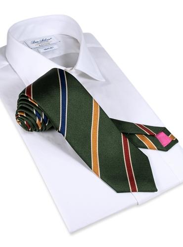 Mogador Striped Tie in Hunter