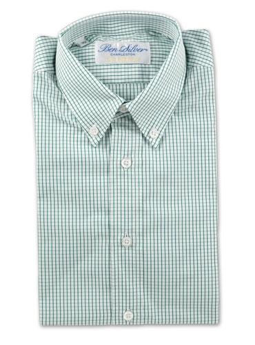 Boys Green Grid Shirt