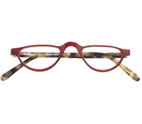 Silver Line Half Moon Reader in Red and Light Tortoise