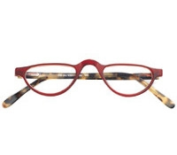 Half-moon Reader in Red and Light Tortoise