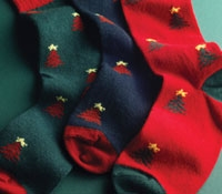 Cashmere Christmas Tree Socks