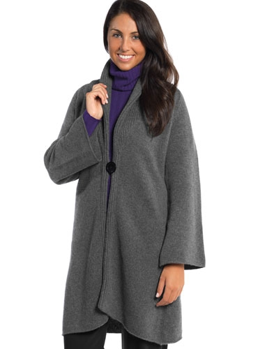 4-ply Cashmere Sweater Coat