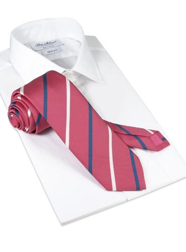 Mogador Double Striped Tie in Azalea